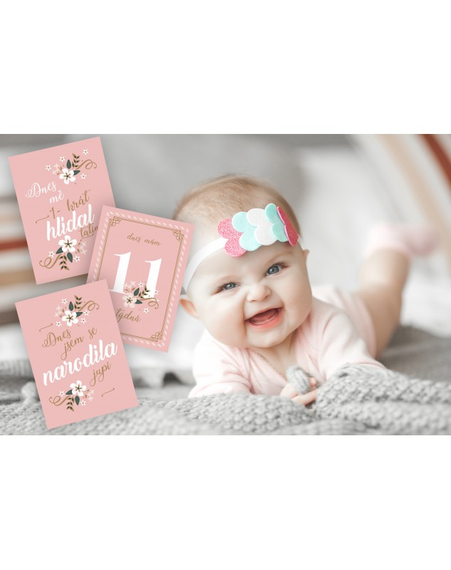 Milníkové kartičky PINK