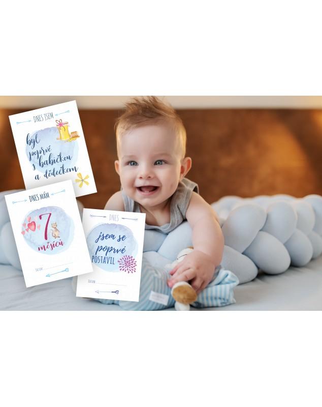Jedinečné milníkové kartičky pro chlapčeka