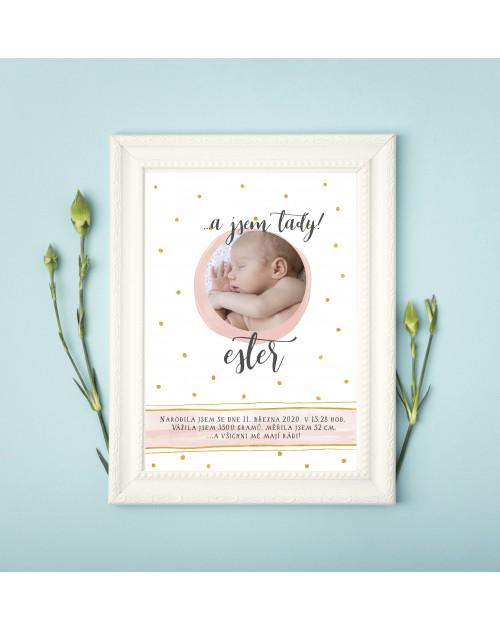 Tabulka s údaji o narození miminka pro holčičku tabulka 4