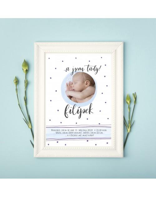 Tabulka s údaji o narození miminka pro chlapečka tabulka 3