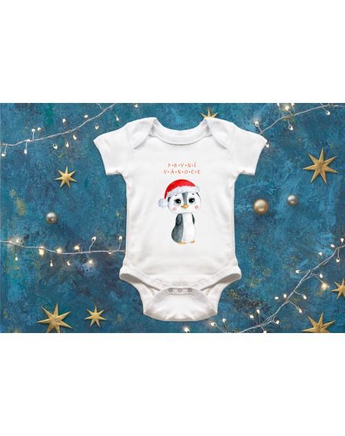 Dětské body Vánoční s tučňákem 2