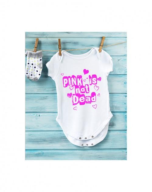 Nádherné dětské body Pink is not dead pro vaše miminko