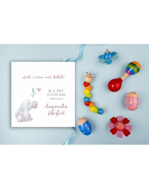 Pozvánka na detskú oslavu alebo baby shower DP5