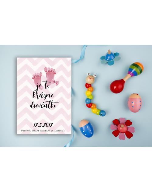 Pozvánka na detskú oslavu alebo baby shower DP7