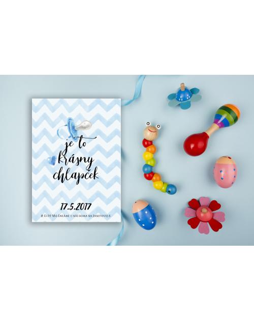 Pozvánka na detskú oslavu alebo baby shower DP8