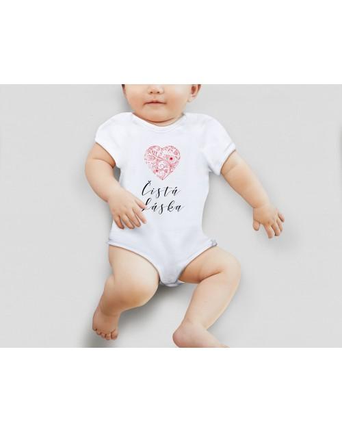 Nádherné dětské body Čistá láska pro vaše miminko
