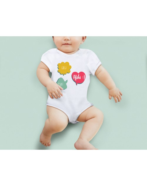 Nádherné dětské body Grg, puk, hi pro vaše miminko