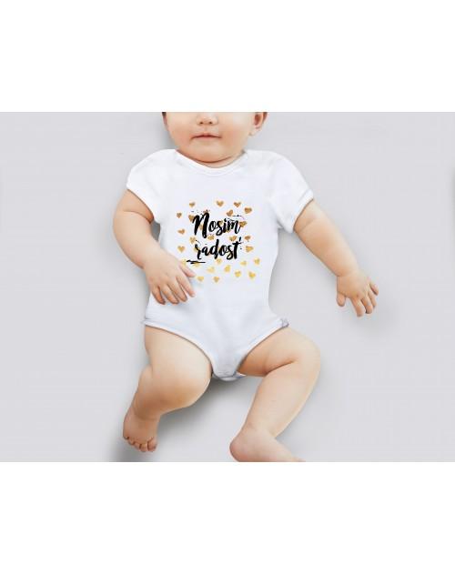 Nádherné dětské body Nosím radost pro vaše miminko