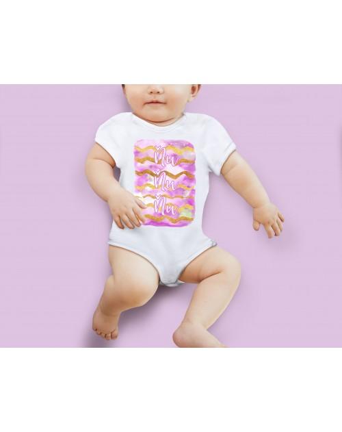 Nádherné dětské body Ňuňu pink pro vaše miminko