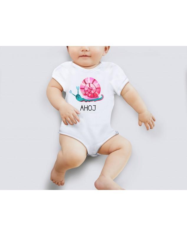 Nádherné dětské body Šneček pro vaše miminko