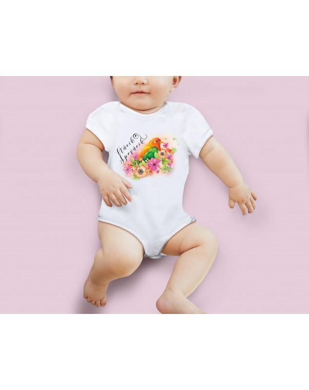 Nádherné dětské body Vrabeček pro vaše miminko