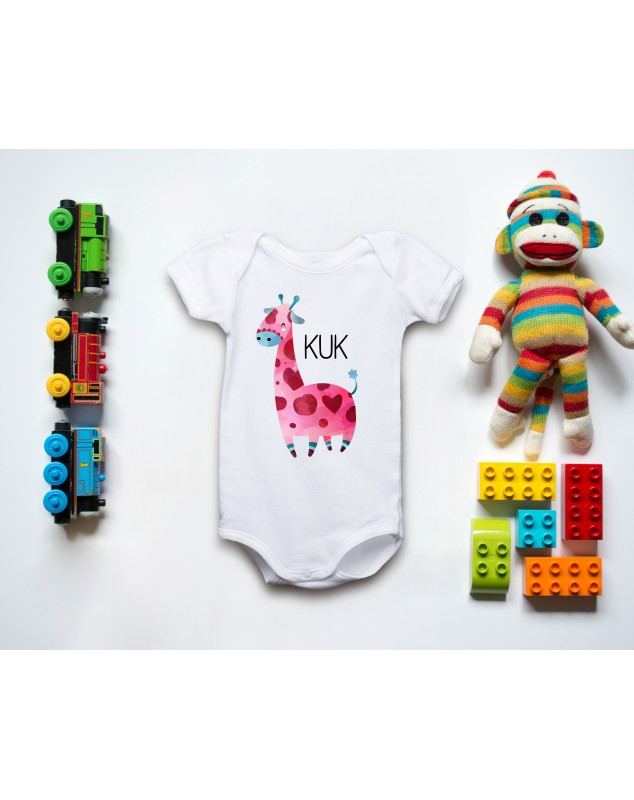 Nádherné dětské body Žirafka pro vaše miminko