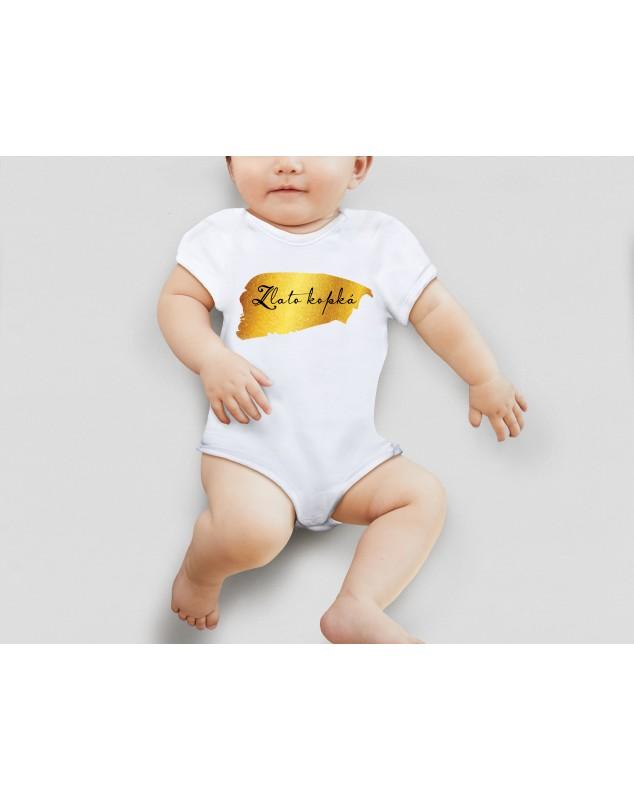 Nádherné dětské body Zlatodupka pro vaše miminko