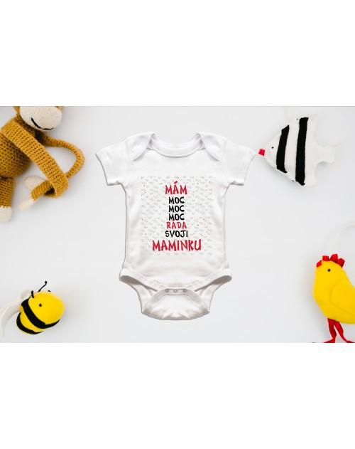 Nádherné dětské body Miluji mámu pro vaše miminko