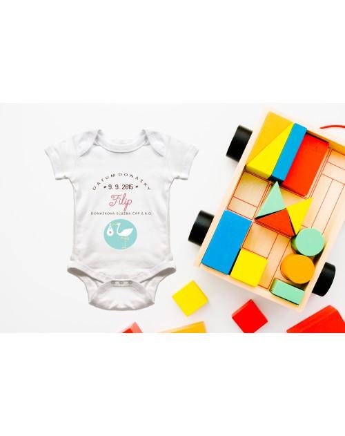 Nádherné dětské body Čáp pro vše miminko