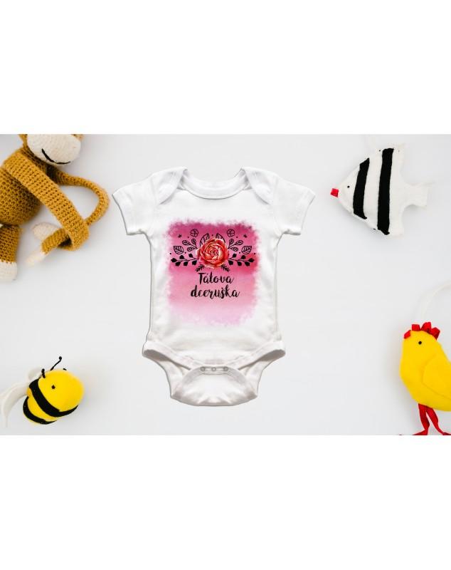 Nádherné dětské body Tatínkova dceruška pro vaše miminko