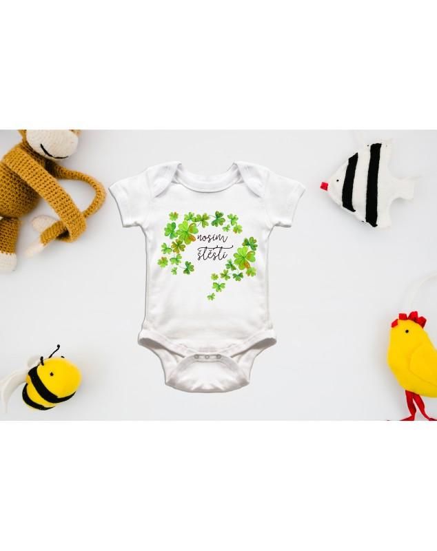 Nádherné dětské body Nosím štěstí pro vaše miminko