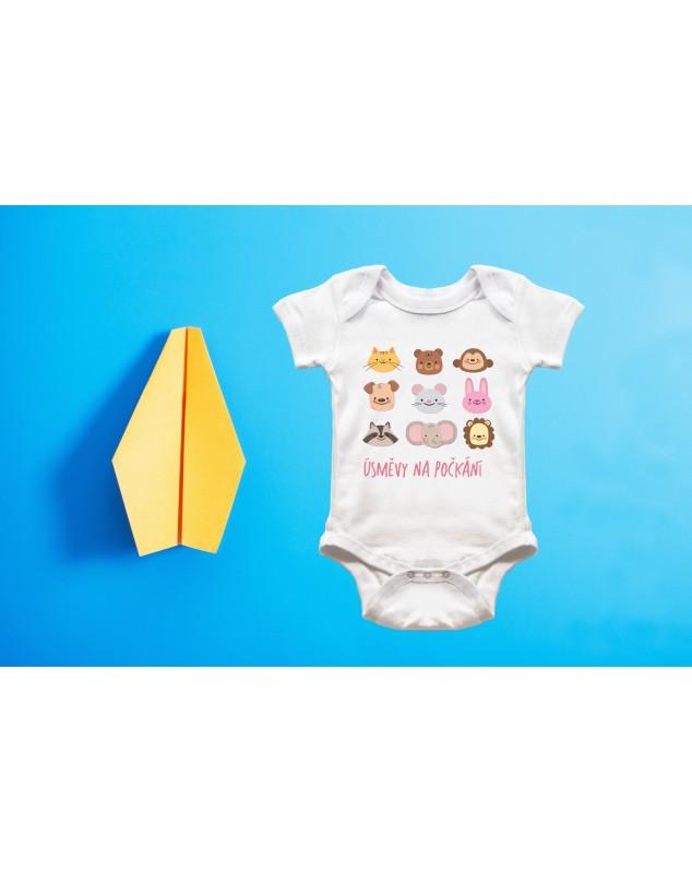 Nádherné dětské body Úsměvy na počkání pro vaše miminko